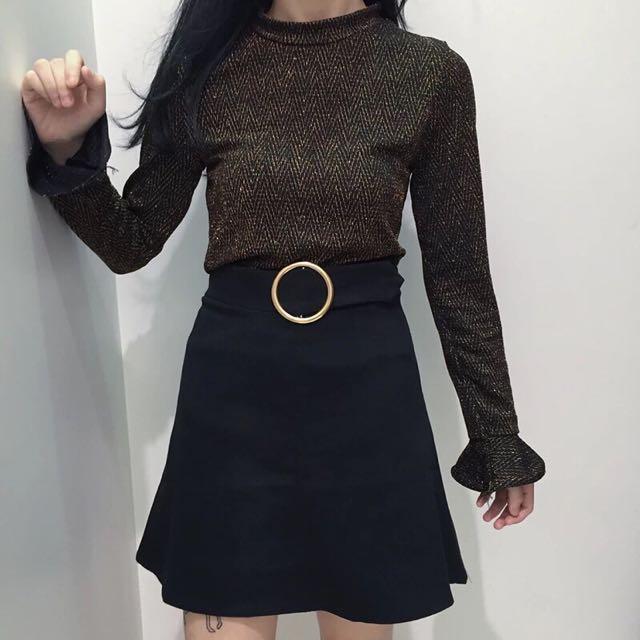 特價優惠✨韓系圓環高腰裙