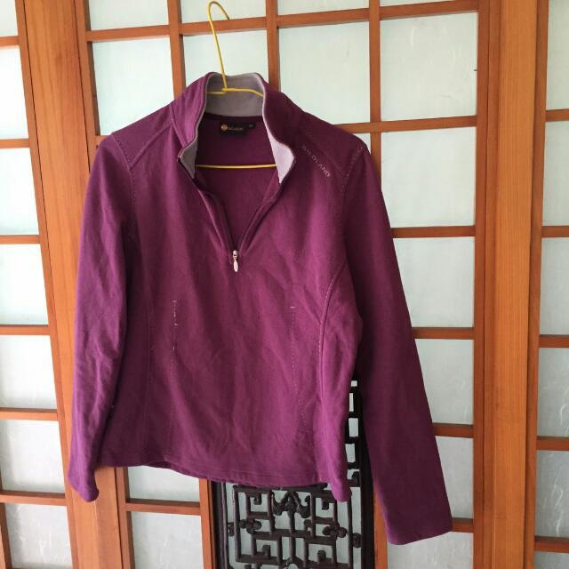桃紅 紫 保暖 排汗衣M 滑雪