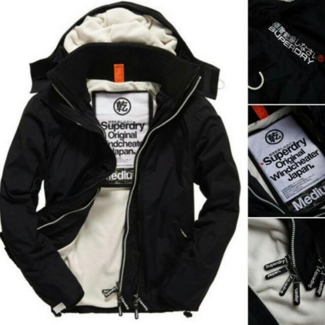 現貨 全新正品 極度乾燥 Superdry 男款 黑白 防風 外套