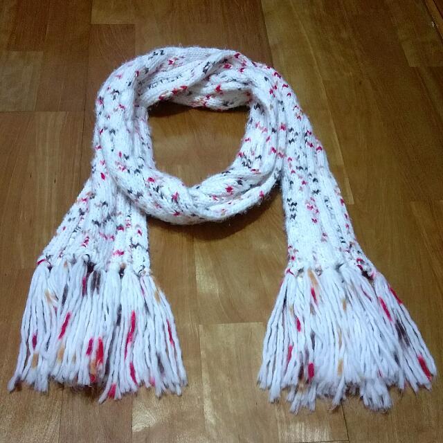 全新 台灣製 MIT 彩色點點 麻花 針織 編織 圍巾