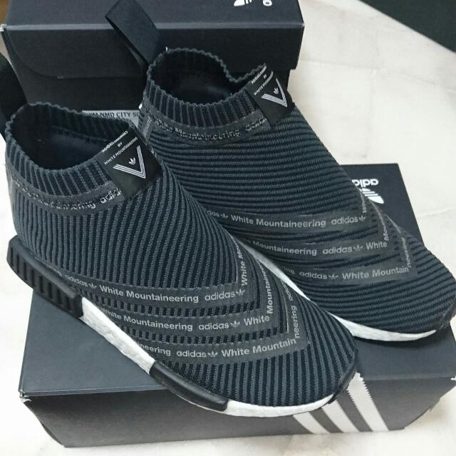 online store ac2ec 21829 #NEGO# Adidas NMD White Mountaineering City Sock