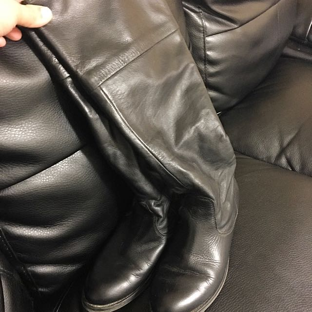 Aldo Black Leather Riding Boots❤️