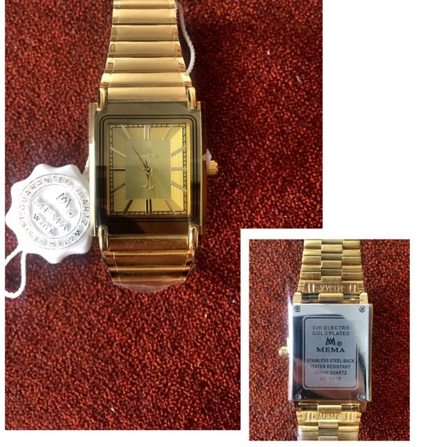 Another Last pc Of MEMA Watch 22k ELECTRO GOLD PLATED on Carousell