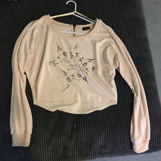 Bardot Size 8 Light Pink/nude Crop