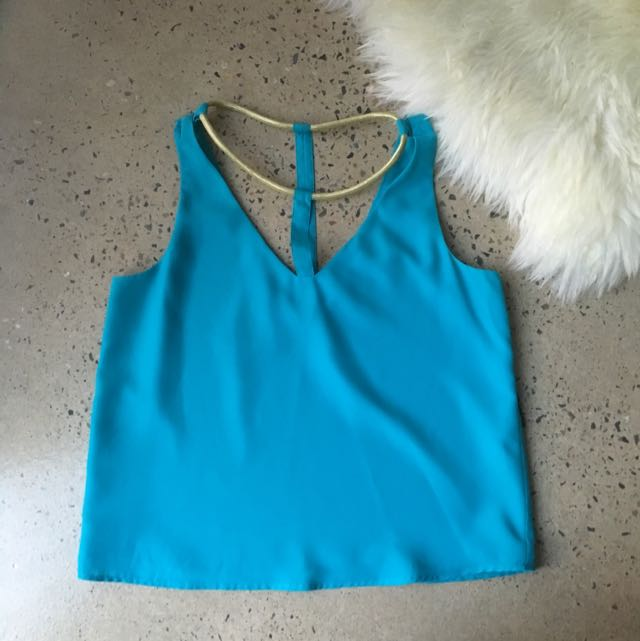 Bettina Liano Sz12 Blue Top