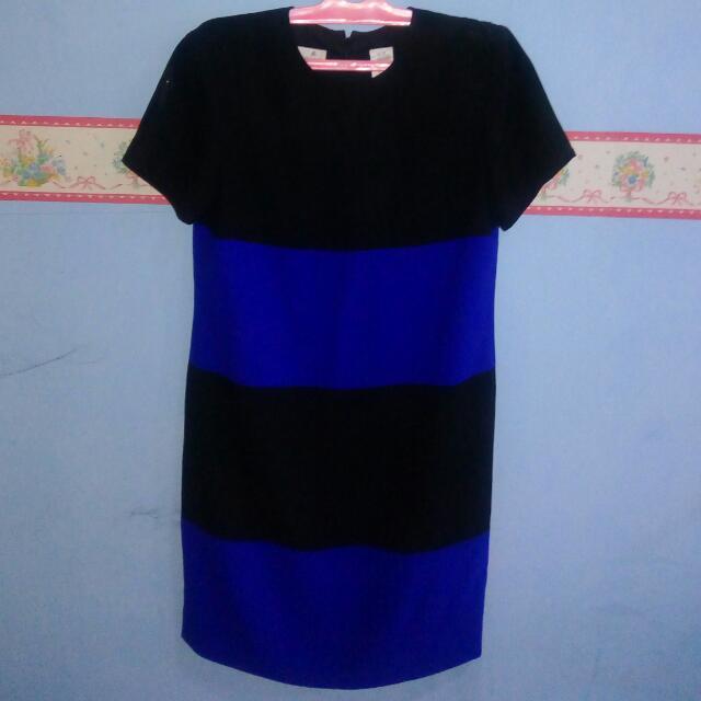 Blue Black Short Dress
