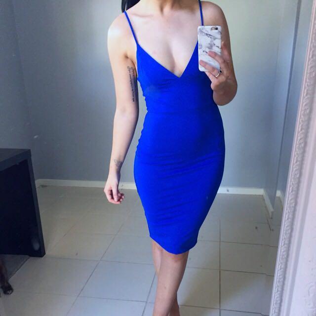 Blue Midi Party/Cocktail Dress