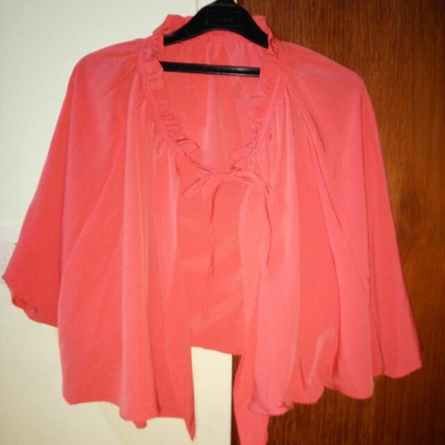 Bolero / Ponco warna pink salem