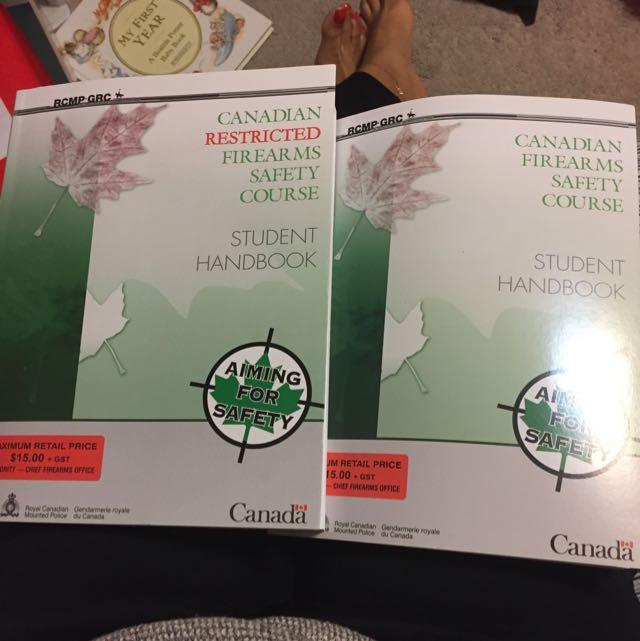 Canadian Firearms Course Books