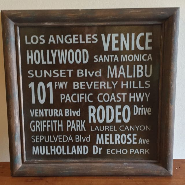 Chic Frame With USA City Names