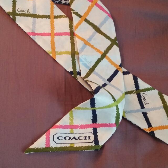 Coach Silk Neck Tie