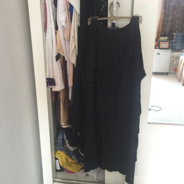Dress Hitam Size S Fit To M