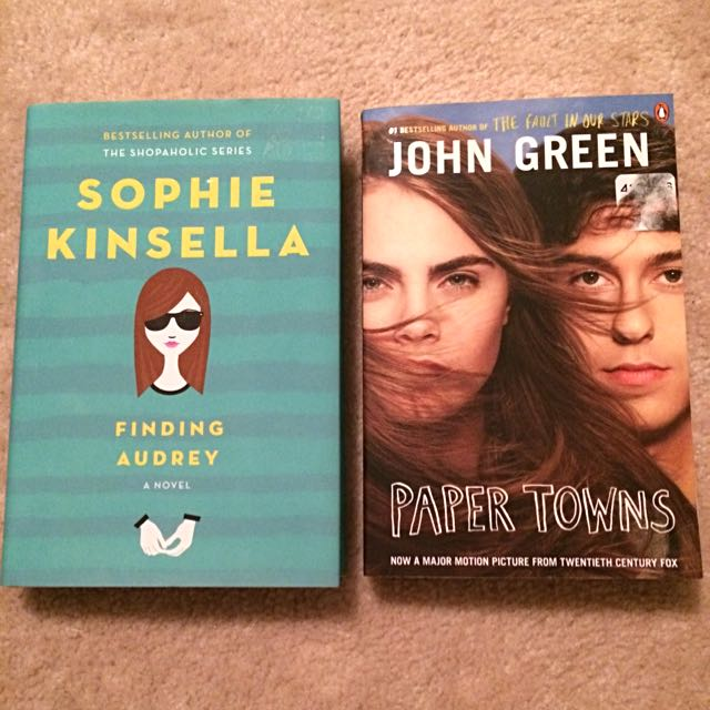 Finding Audrey (Sophie Kinsella) Paper Towns (John Green)