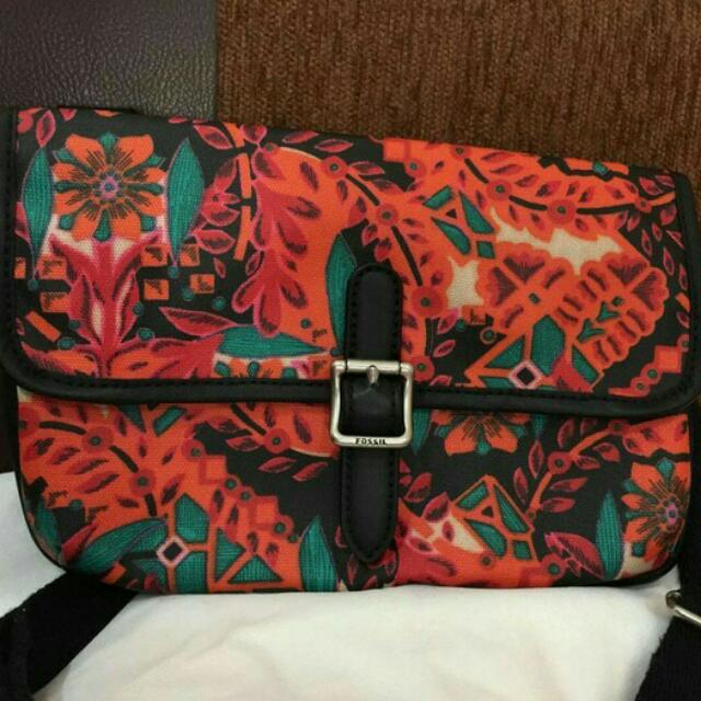 Fossil Mini Sling Flower Authentic