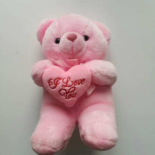 I Love You Pink Bear