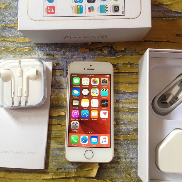 iPhone 5s 64GB Gold, Mulus Body, Fungsi Oke, Fullset