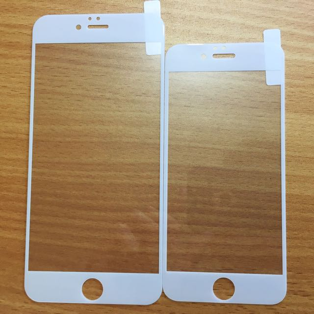 Iphone 6,7,6+,7+ Full Cover Tempered Glass, Kaca Anti Gores, Screen Protector