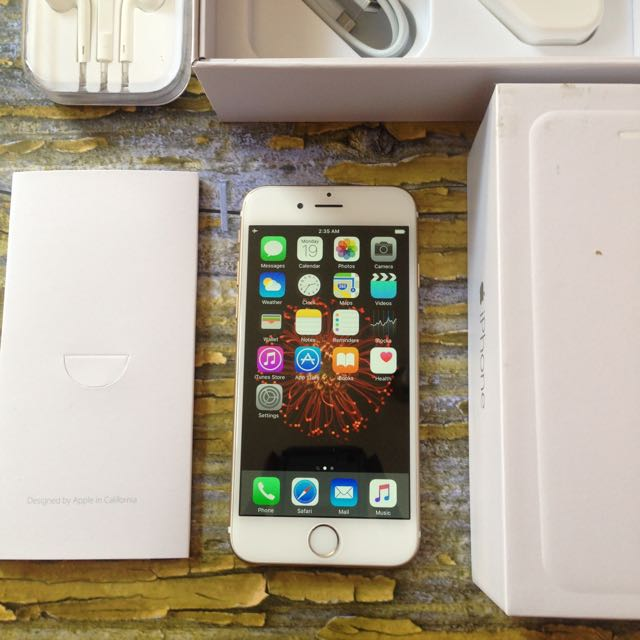 iPhone 6 16GB Gold, FU Dan Fullset. Mulus Like New