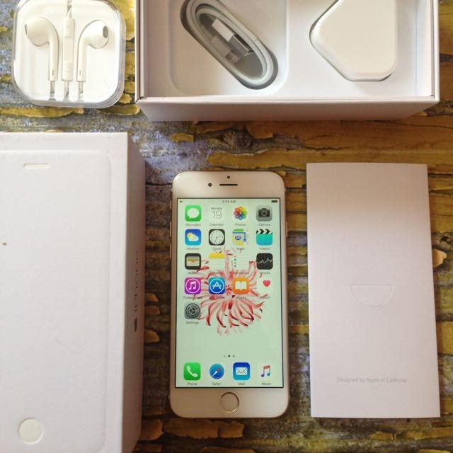 iPhone 6 64GB Gold, Fullset, Fungsi Oke Semua