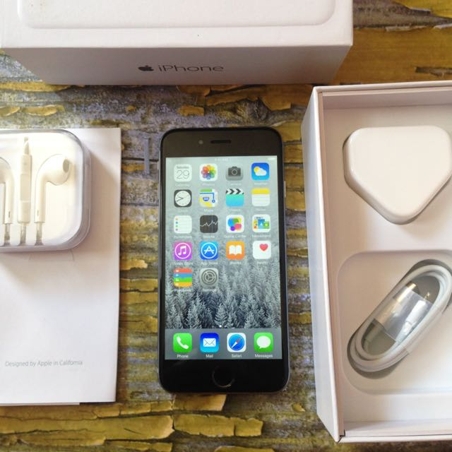 iPhone 6 64GB Space Gray, Mulus Terawat, Fu & Fullset
