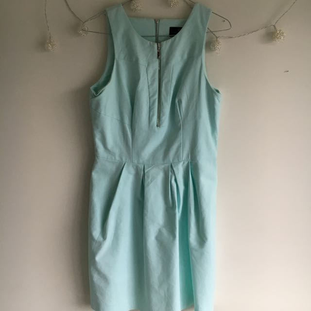Light Blue Zip Dress