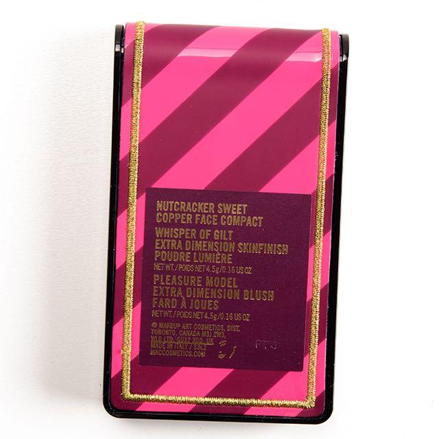 "MAC Nutcracker Sweet ""Copper Face Palette."" BNIB. Authentic. Will Give Receipt. Whisper Of Gilt"