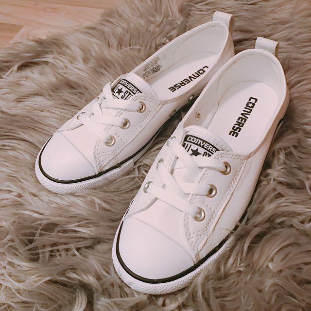 NEW Converse White Ballet Slips