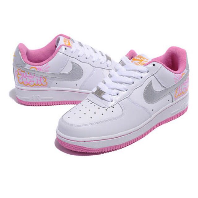 Nike Air Force One Low Femme Blanc Pearl Rose