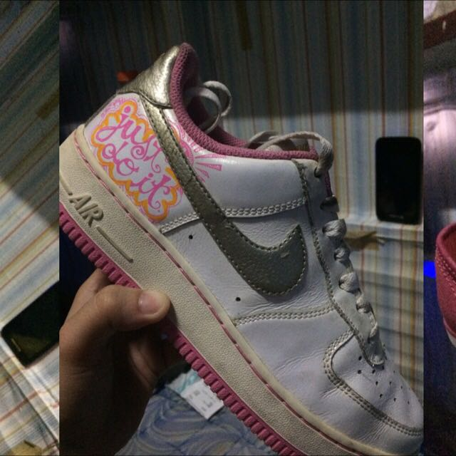 le dernier 879f4 7bef5 Nike Air Force One Low Femme Blanc Pearl Rose