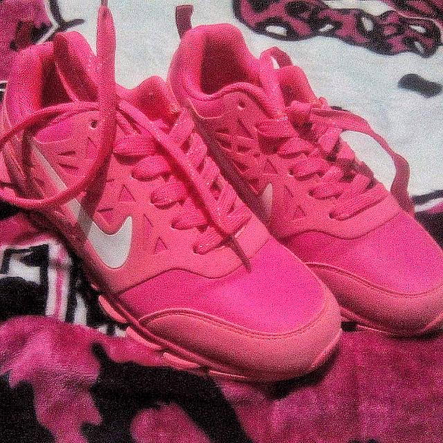 Home · Preloved Women's Fashion · Shoes. Nike Neon Pink Rubber Shoes Nike  Neon Pink Rubber Shoes ...