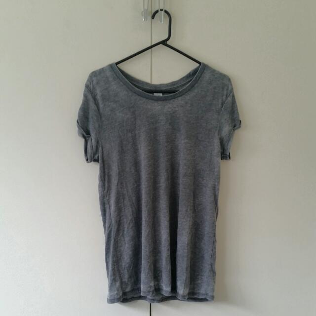 Oversized Grey Acid Wash Tshirt