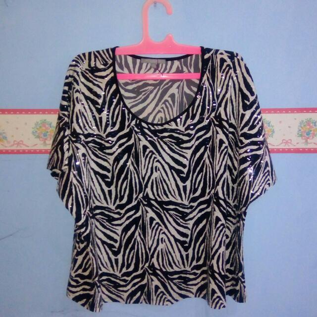 Party Glowing Zebra Shirt