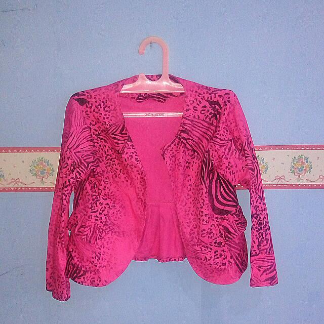 Pink Zebra Blazer