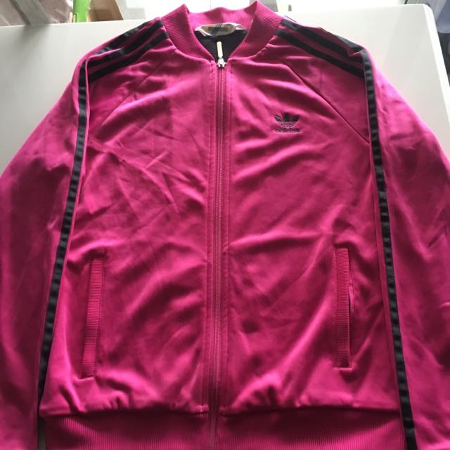Pink/black Adidas Hoodie Size 10