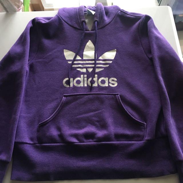 Purple/silver Adidas Originals Hoodie Size 12