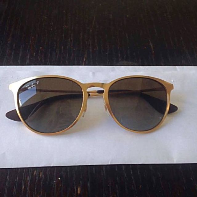 Ray-Ban Erika Metal Gold Polarized Lenses