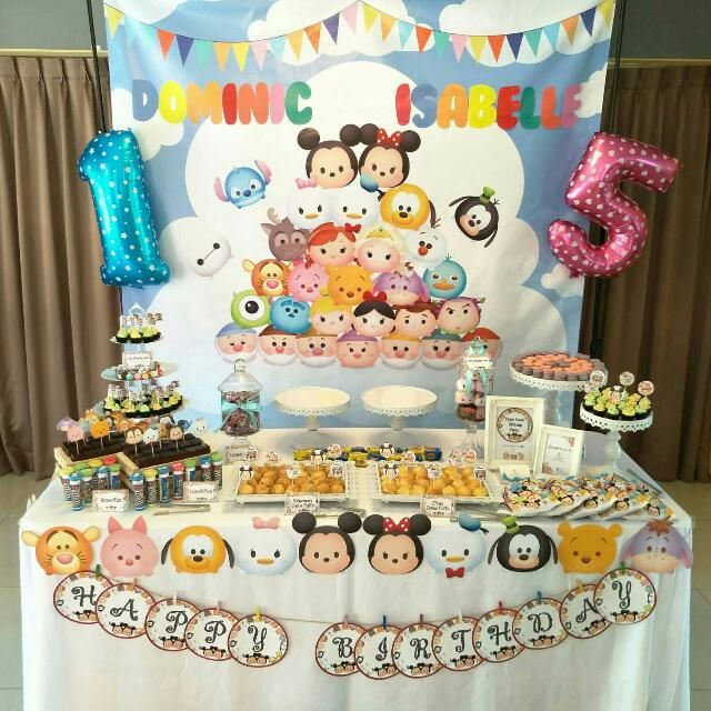Rent Tsum Tsum Backdrop Birthday Party Baby Shower Dessert Table Candy Bar  ...