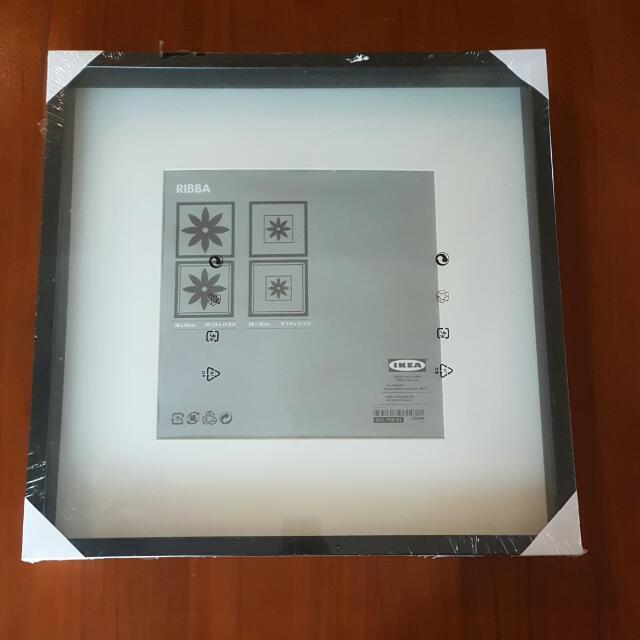 Ribba Ikea Photo Frame Black 50x50, Furniture on Carousell