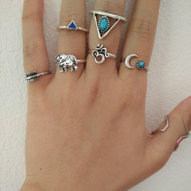 Rings Assorted One Size Fits All Adjustable