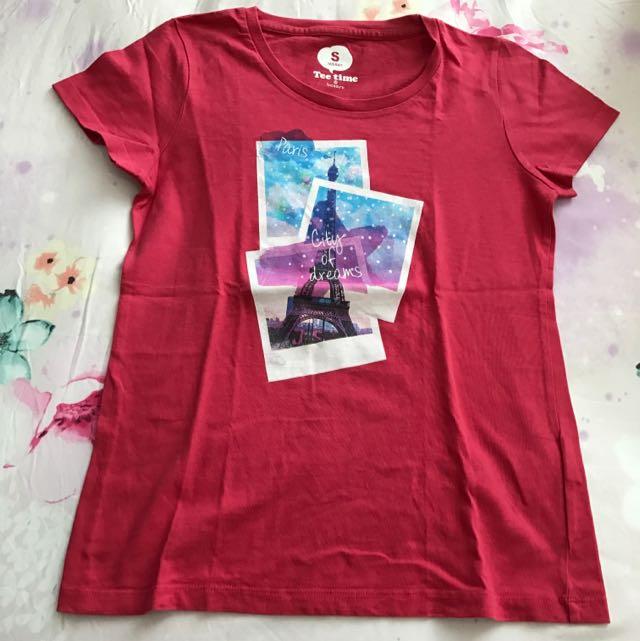 SALE! Original Bossini Paris T-Shirt Fusya