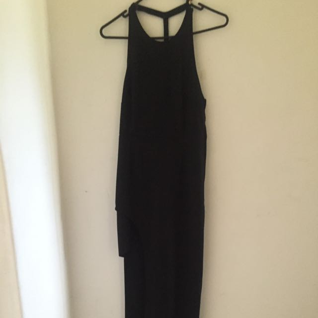 SHOWPO - Long Black Maxi Sz 10