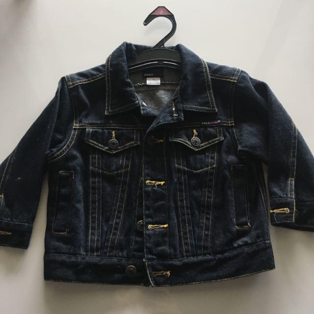 Size 3 Fred Bear Unisex Denim Jacket