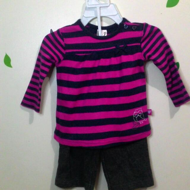 Striped Long Sleeves & Pants - SET