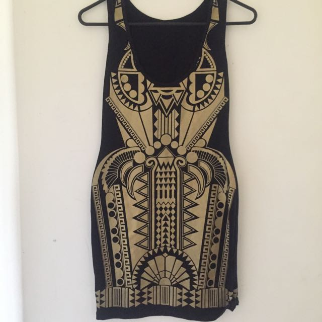 SWITCH -Black & Gold Dress Sz10