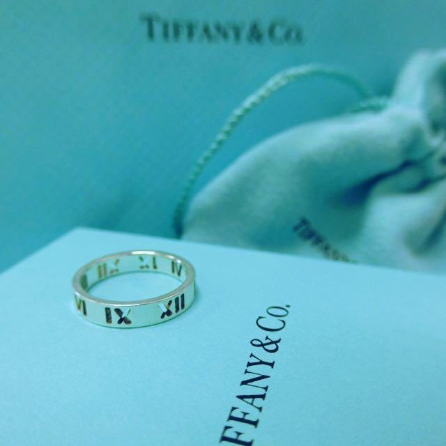 8f7092c73 Tiffany & Co Atlas Narrow Ring In Sterling Silver // Roman Numeral ...