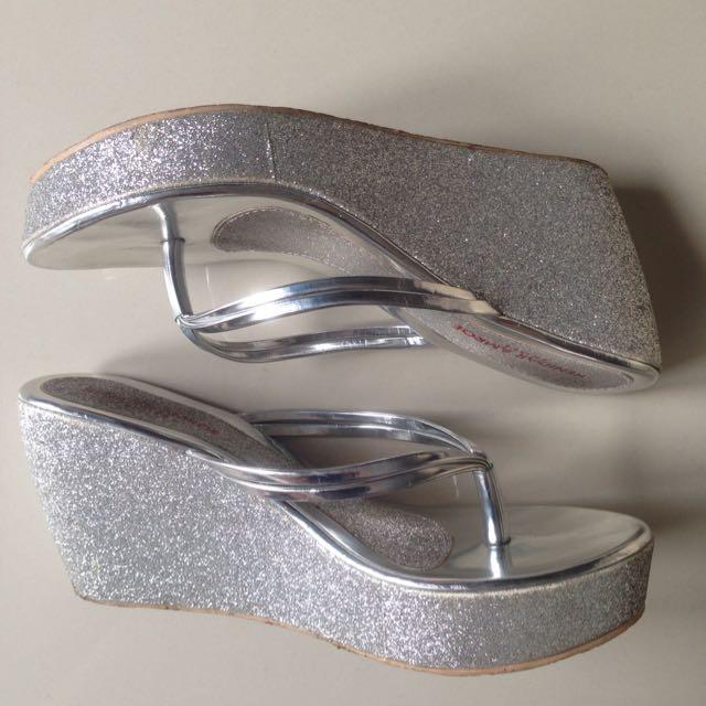 Wedges Sandal Silver