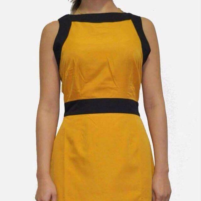 Womens Yellow Dress