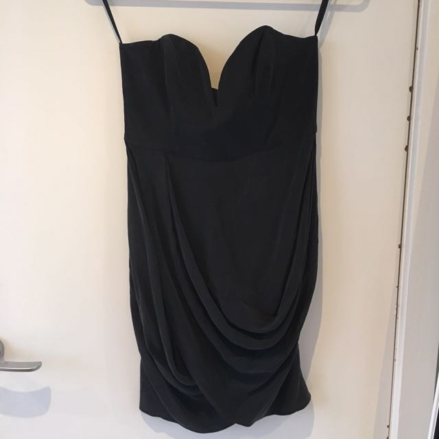 Zimmermann Black 100% Silk Dress Size 1