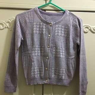 紫色千鳥格冷衫