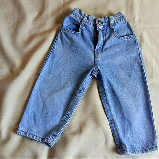 💚FREE SHIPPING + FREE GIFT💚  Pre❤ Baby Guess Unisex Blue Denim Jeans